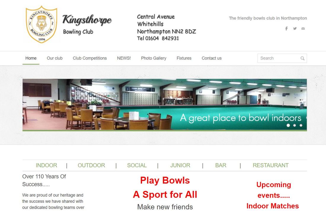 Kinsgsthorpe bowling club use Sherborne based web developer imagepotion.com to develop new bowls club website